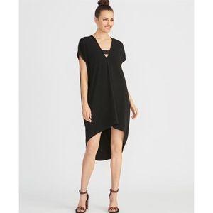 New Rachel Roy black high lo dress S